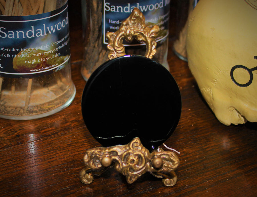 Black Obsidian Scrying Mirror (Medium)
