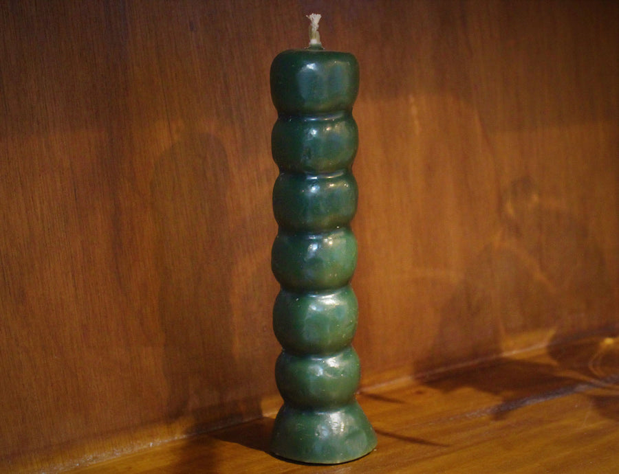 7 Knob Candle, Green
