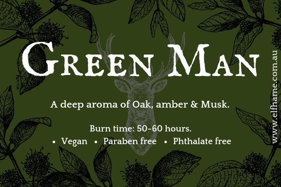 Green Man, Ritual Scent Candle