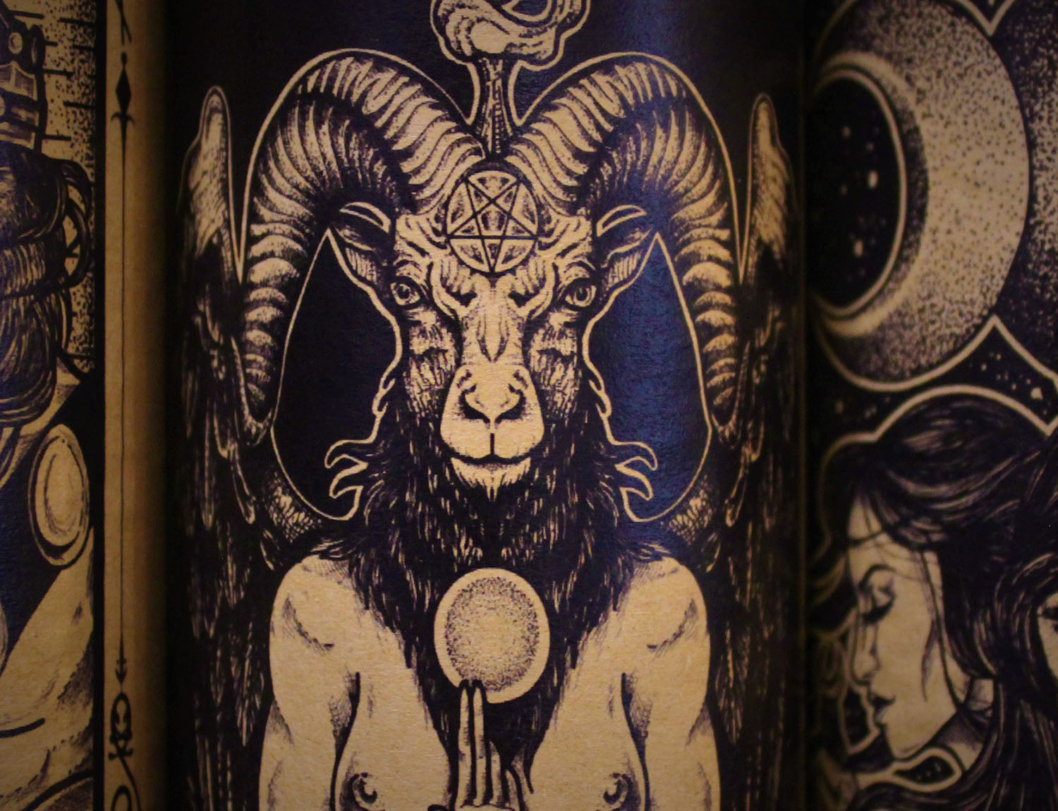 Baphomet, Devotional Candle