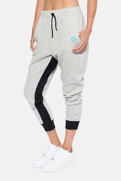 In and Under Drop Crotch Track Pant