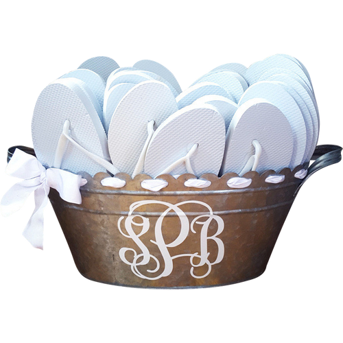 Custom Scalloped Bucket - Reception Flip Flops