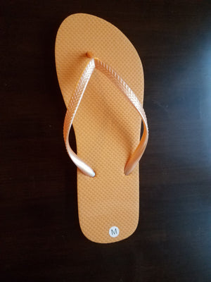 Bright Peach Flip Flops - 24 Pairs - Reception Flip Flops