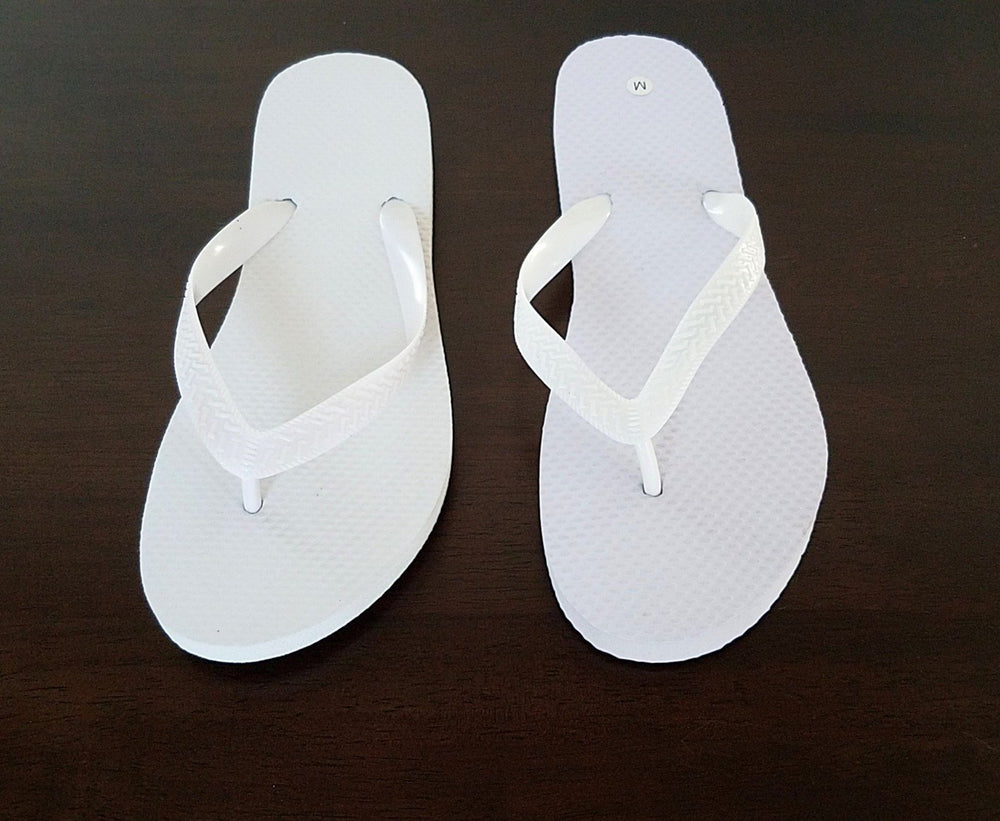 Whimsical White Flip Flops - 24 Pairs - Reception Flip Flops