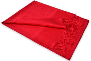 Red Paisley Pashmina Scarf