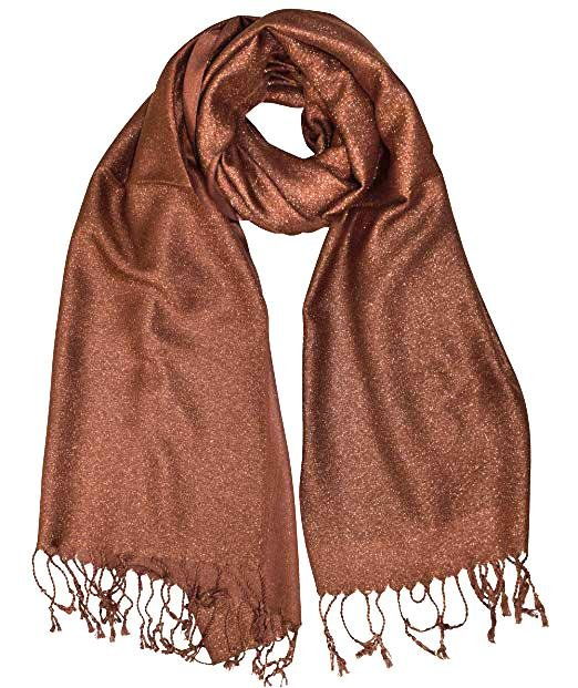 Copper Metallic Pashmina Scarf