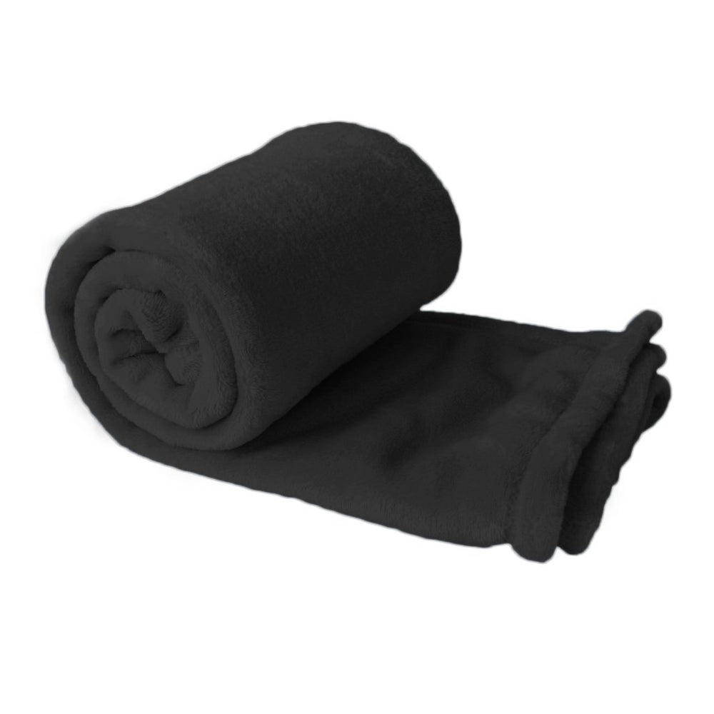 Black Plush Fleece Blanket