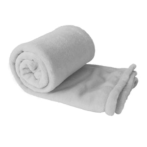 Silver Plush Fleece Blanket