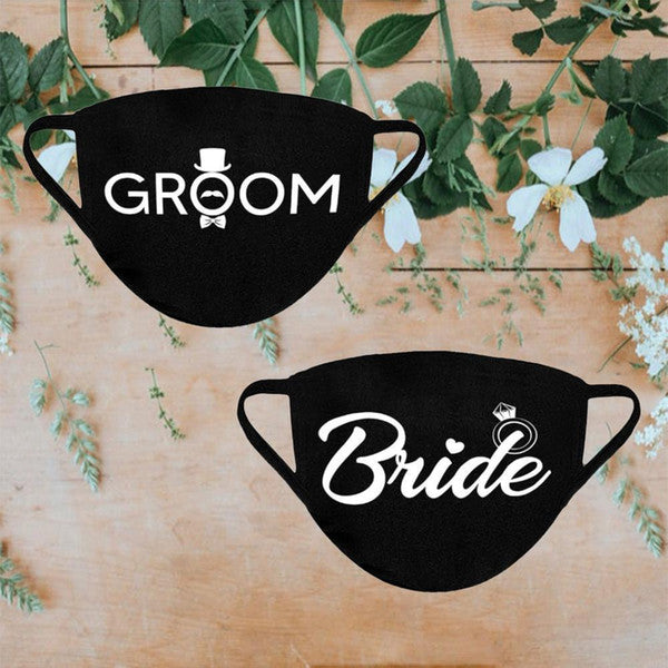Bride & Groom II Wedding Face Mask