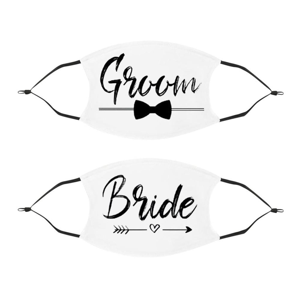 Bride & Groom Wedding Face Mask