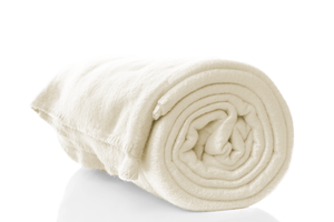 Ivory Polar Fleece Blanket