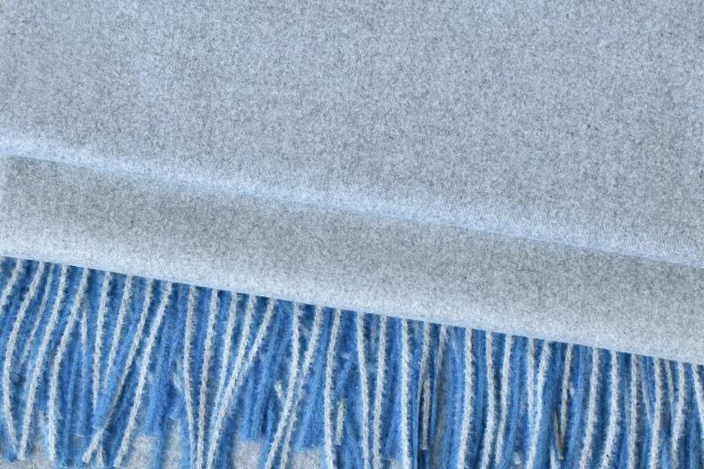 Blue/Light Grey Cashmere Pashmina Scarf