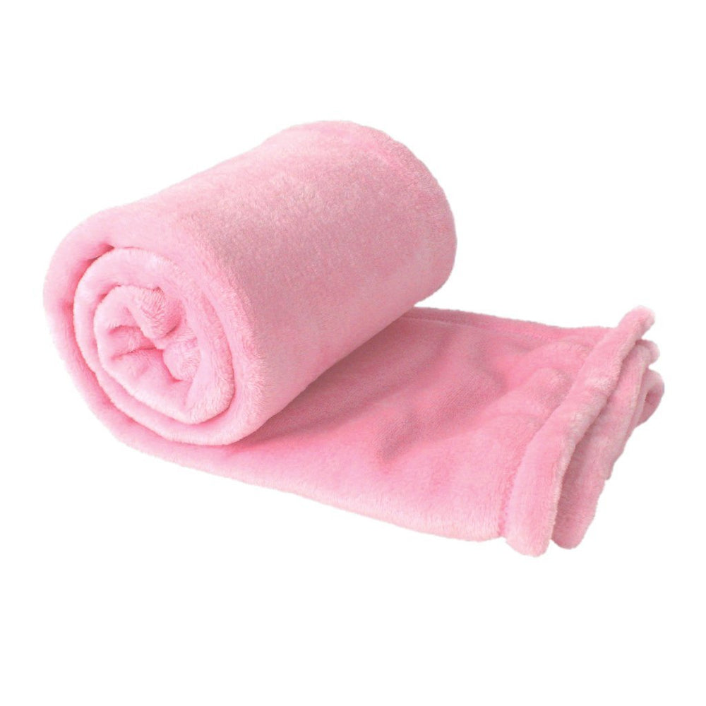 pink plush fleece blanket favor for wedding receptions