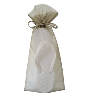 Olive Organza Bag - Reception Flip Flops