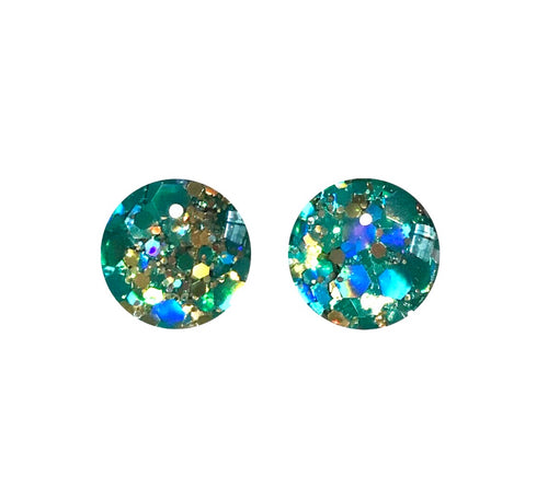 Treasure Box Glass Stud Earrings RTS