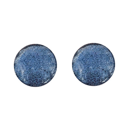Charcoal Colour Block Glass Stud Earrings