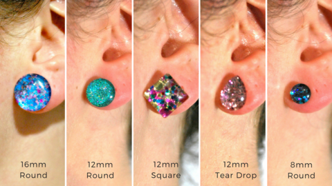 Party Mix Glass Stud Earrings
