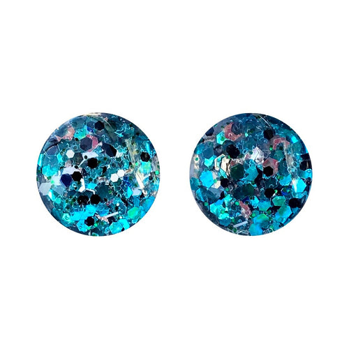 Blue Ivy Glass Stud Earrings