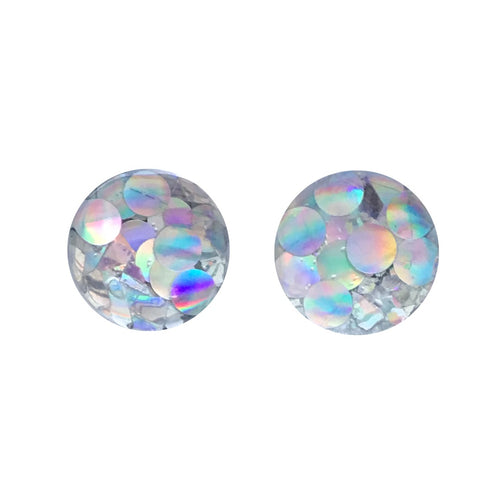 Broken Mirrors Glass Stud Earrings