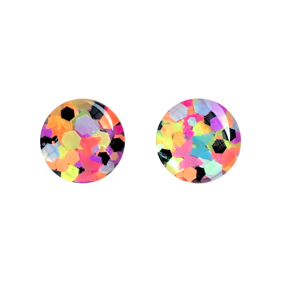 Vogue Glass Stud Earrings