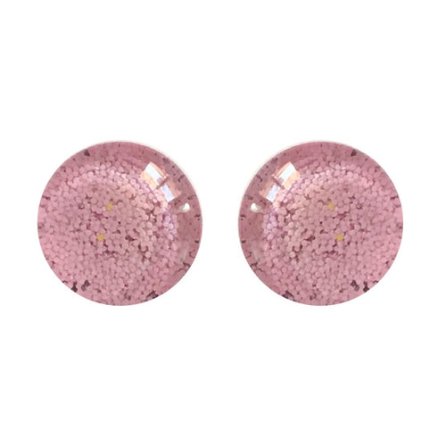 Blossom Pink Pastel Glass Stud Earrings