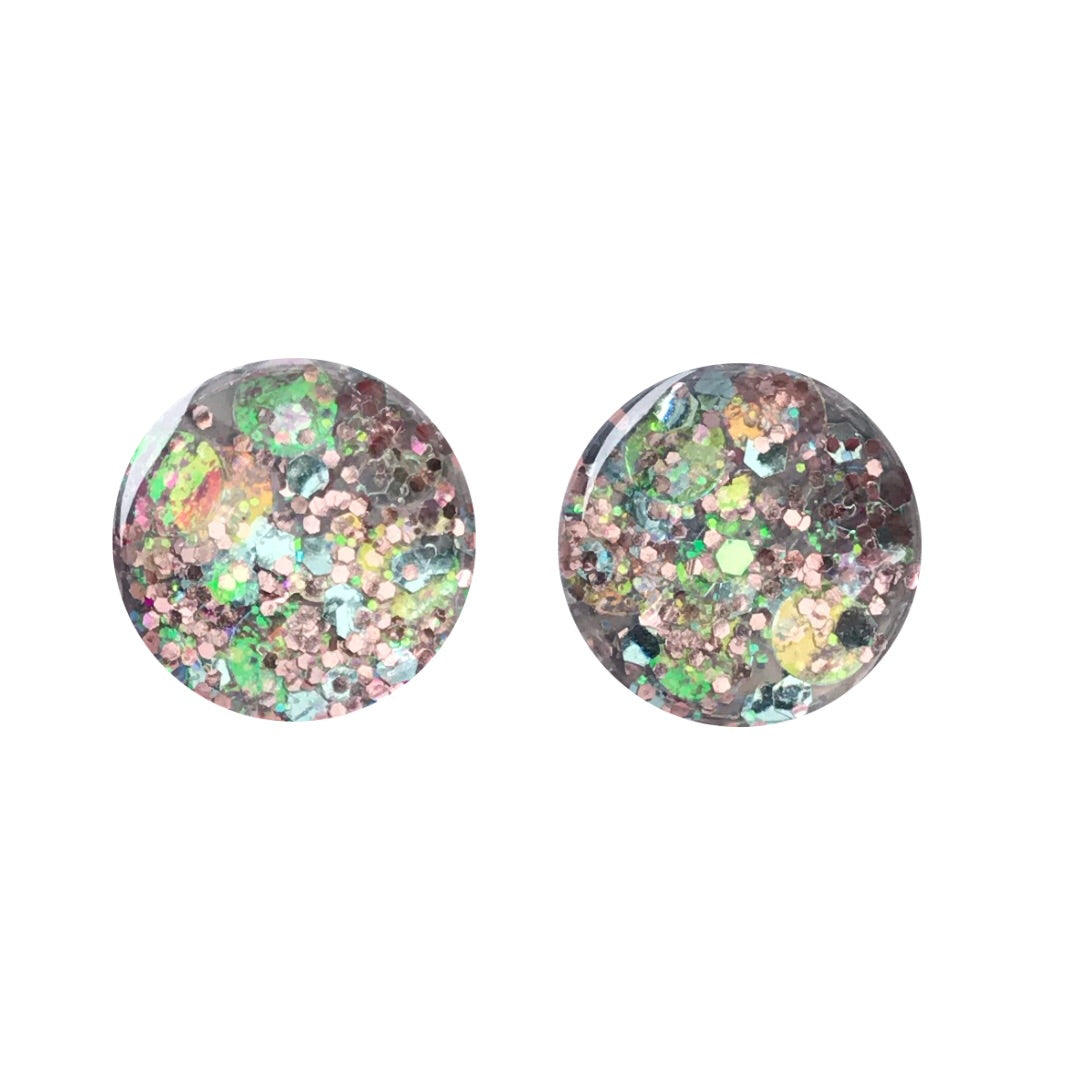 Pure Glass Stud Earrings