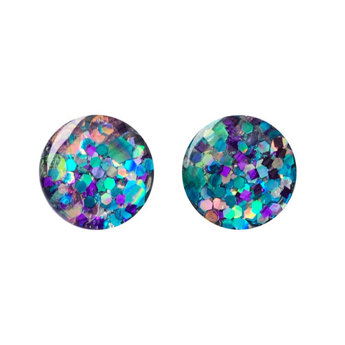Atlantic Mermaid Glass Stud Earrings
