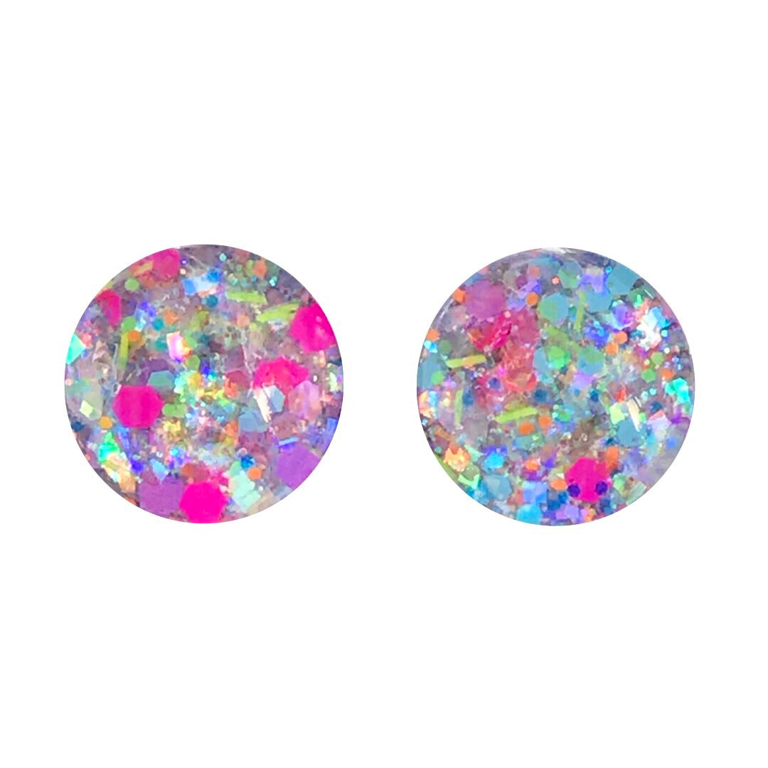 NYE Celebrations Remixed Glass Stud Earrings