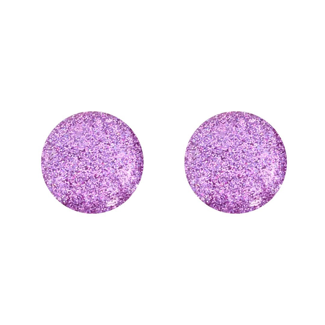 Light Pink Colour Block Glass Stud Earrings