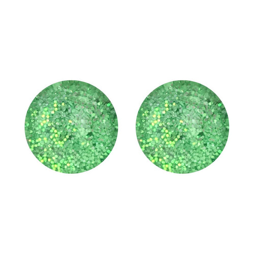 Sour Apple Pearl Glass Stud Earrings