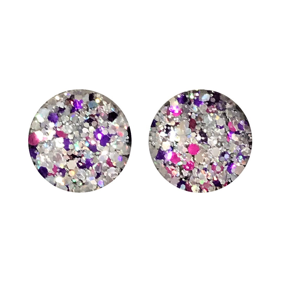 Royal Glass Stud Earrings