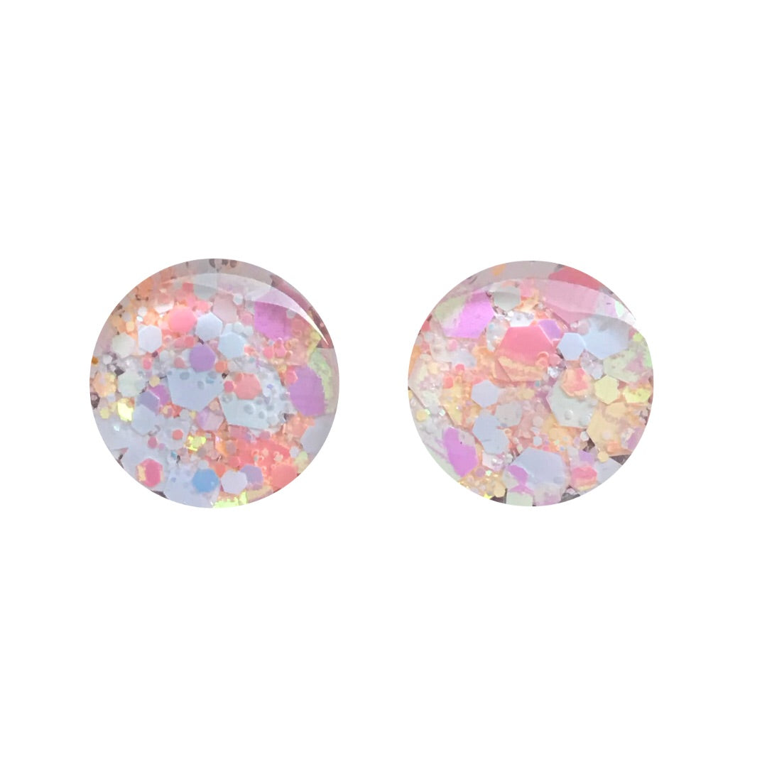Mango Mash Glass Stud Earrings