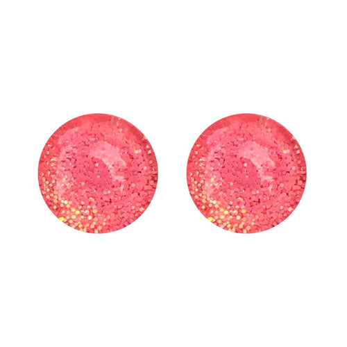 Coralizma Pearl Glass Stud Earrings