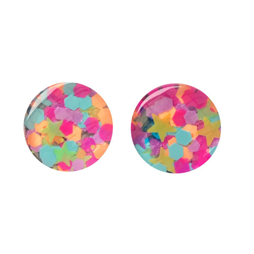 Circus Act Glass Stud Earrings