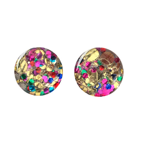 Club Tropicana Glass Stud Earrings