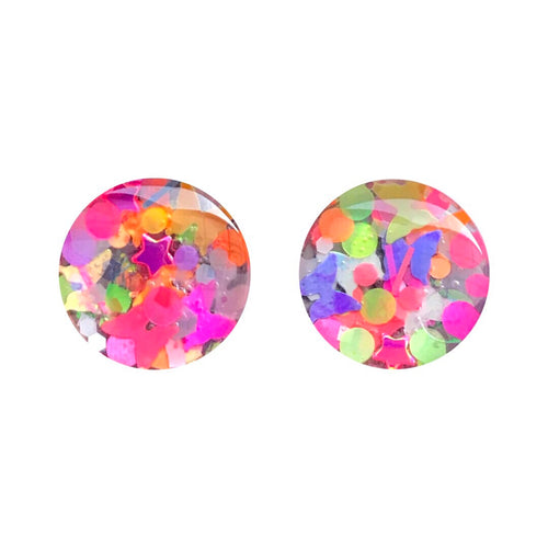 Show Time Glass Stud Earrings
