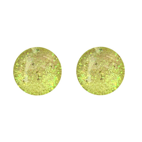 Lemon Crush Sorbet Pearl Glass Stud Earrings