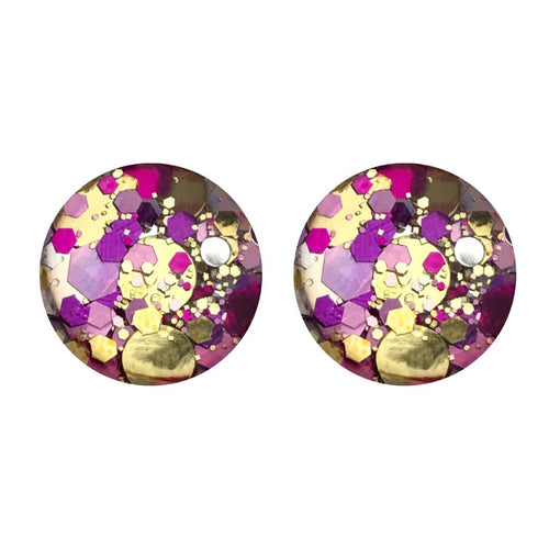 Glamour Glass Stud Earrings