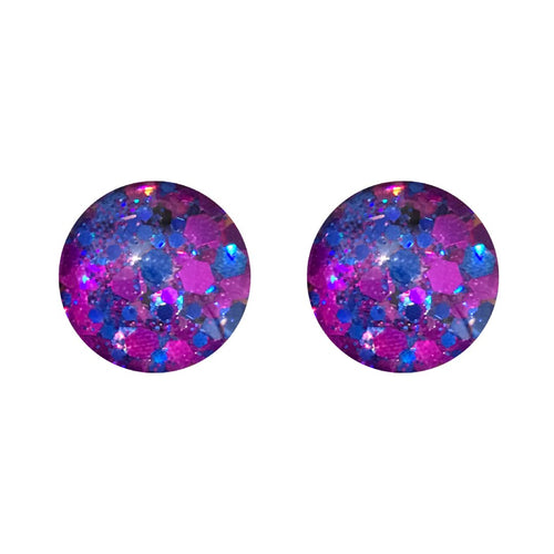 Indigo Glass Stud Earrings