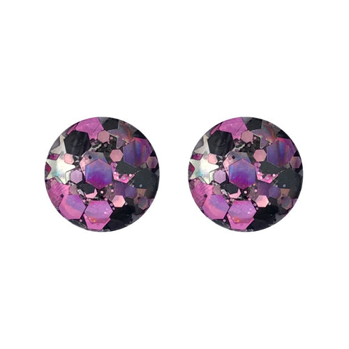 A Gypsies Dance Glass Stud Earrings