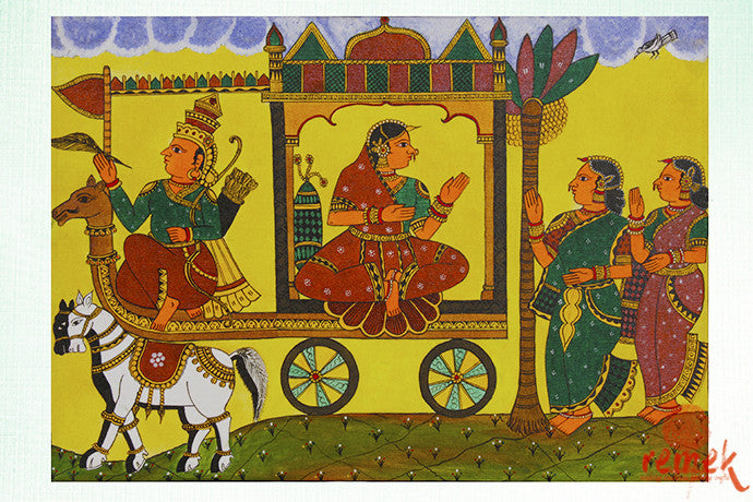 CHITRAKATHI PAINTINGS - PAINTINGS WHICH DEPICT A TALE