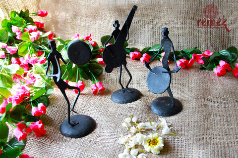 Bastar Wrought Iron Artefact - Three Musicians
