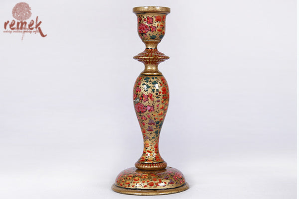 """Naquashi Art"" traditional Candle Stand"