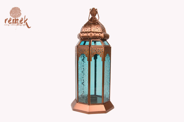 Moroccan Blue Hexagon Lantern