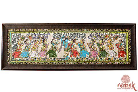 Pattachitra Painting - Krishna Raas Leela