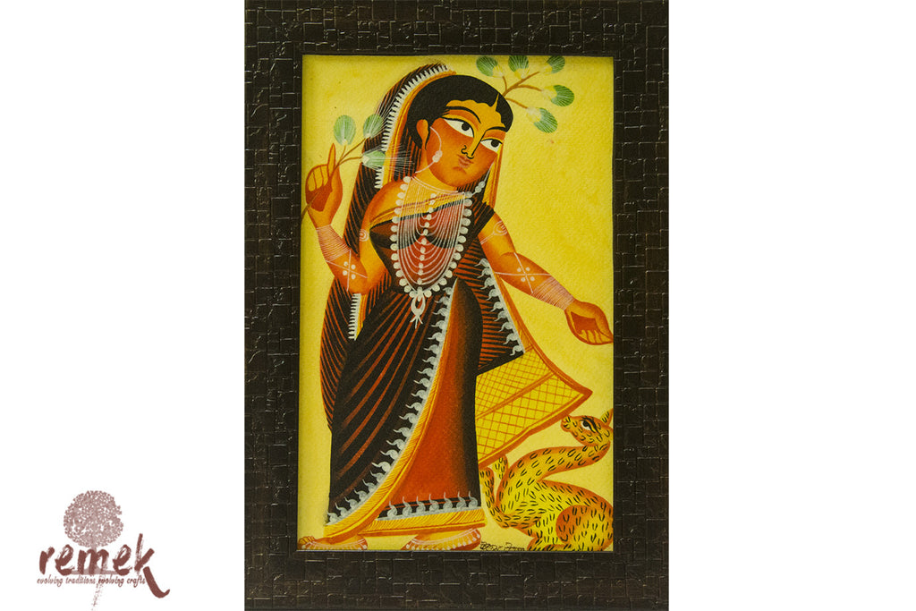 Kalighat Painting - Graceful Nayika