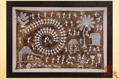 Warli Painting - Tarpa Tribal Dance
