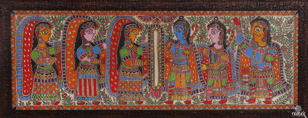Madhubani Painting - Ram Sita Marriage
