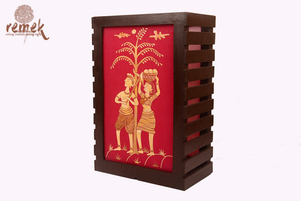 Handmade Table Lamp from Rice Strands - Village