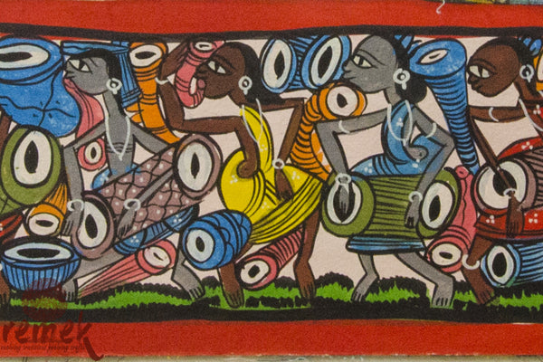 Santhal Painting - Celebration